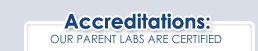 DNA Lab Accredidations and Certifications